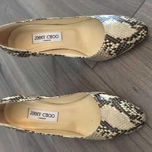 Jimmy Choo - Snake Skin Print– only worn once